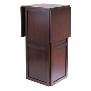 Winsome Wood 50-in x 40-in Walnut Newport Wine Bar Expandable Counter Wine Rack