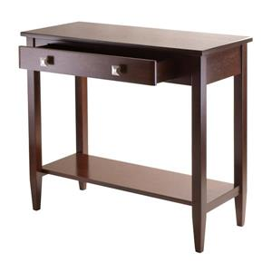 Winsome Wood Richmond 34-in x 30-in Walnut Wood Console Table