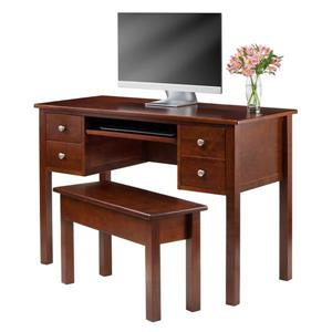 Winsome Wood Emmett Wood Writing Desk and Storage Bench