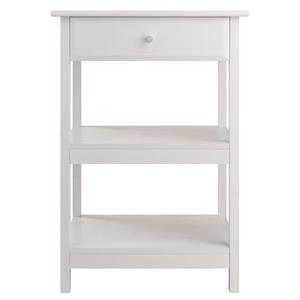 Winsome Wood 21-in x 30-in White Wood Delta Printer Stand
