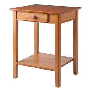 Winsome Wood 23-in x 29-in Natural Wood Studio End Table