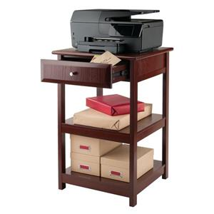 Winsome Wood 21-in x 30-in Walnut Wood Delta Printer Stand