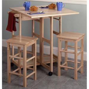 Winsome Wood Suzanne Save Space Set - Wood - Natural - 3 Pieces