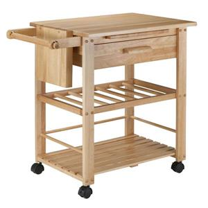 Winsome Wood Finland Kitchen Cart - 35-in x 31.5-in - Wood - Natural