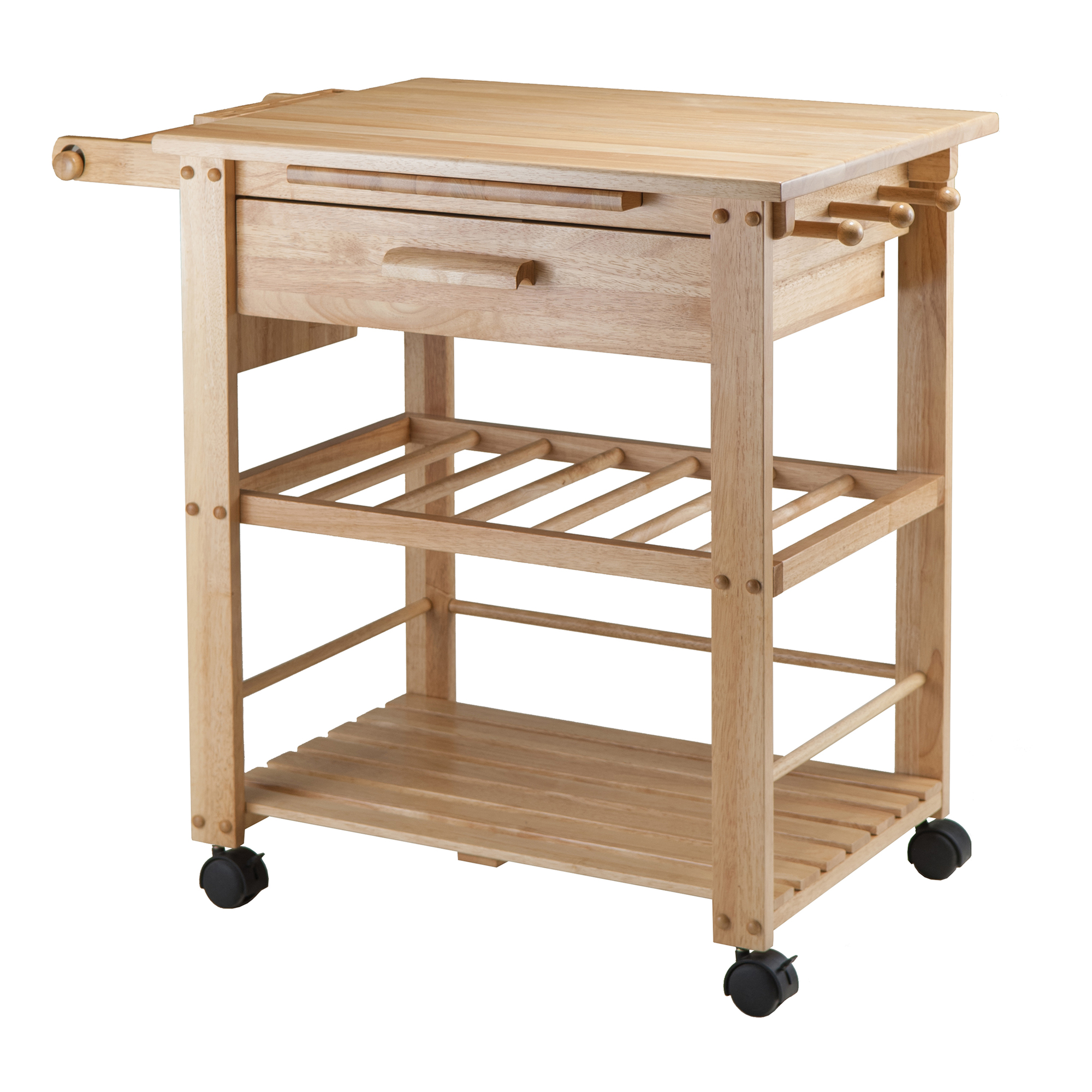 Image of: Winsome Wood Finland Kitchen Cart 35 In X 31 5 In Wood Natural Lowe S Canada
