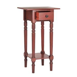Safavieh 31.90-in x 13.80-in Sabrina Red Pine Nightstand