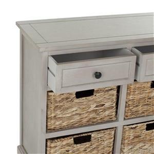 Safavieh Herman Rectangular Vintage Gray   2 Drawer Storage Unit Console Table