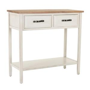 Safavieh Carol  Rectangular White Elm Wood Console Table