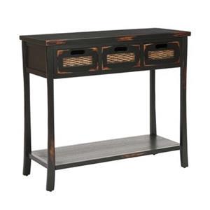 Safavieh Autumn 3 Drawer  Rectangular Distressed Java Pine wood Console Table