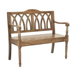 Safavieh Benjamin 36.00-in x 40.00-in Oak Indoor Accent Bench