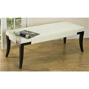 Safavieh Tyler 18.00-in x 47.00-in White Faux Leather Indoor Accent  Bench