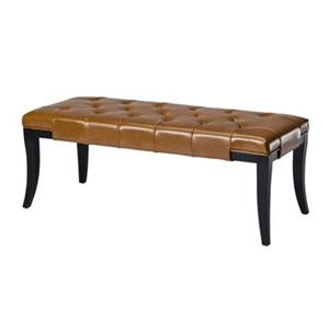Safavieh Tyler 18.00-in x 47.00-in Saddle Indoor Accent  Bench