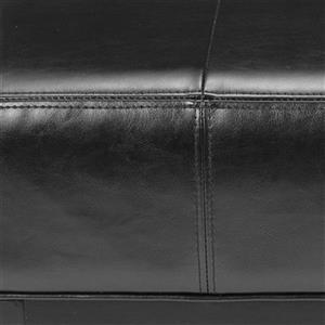Safavieh Fulton 15.50-in x 29.00-in Black Faux Leather Small Ottoman