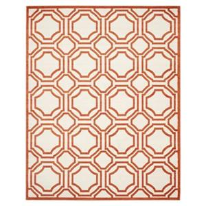 Safavieh Amherst Ivory and Orange Area Rug,AMT411F-8