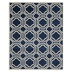 Safavieh Amherst Navy and Ivory Area Rug,AMT411P-8