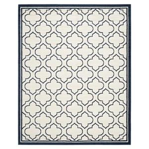 Safavieh Amherst Ivory and Navy Area Rug,AMT412M-8