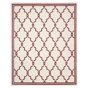 Safavieh Amherst Ivory and Red Area Rug,AMT414H-8