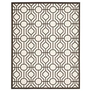Safavieh Amherst Ivory and Brown Area Rug,AMT416J-8