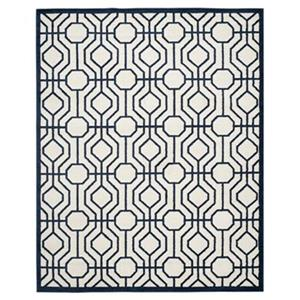 Safavieh AMT416M Amherst Ivory and Navy Area Rug,AMT416M-8