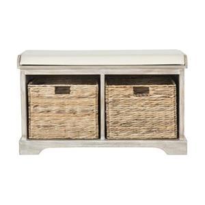 Safavieh American Home 19.90-in x 33.50-in Winter Melody Freddy Storage Bench