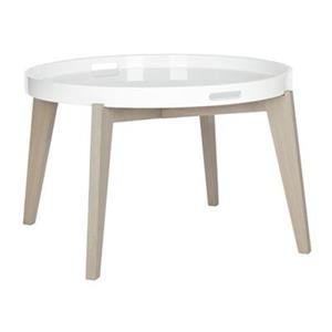 Safavieh Fox 18-in White/Grey Echo End Table