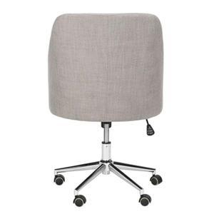 Safavieh 20.87-in Grey Adrienne Chrome Leg Swivel Office Chair