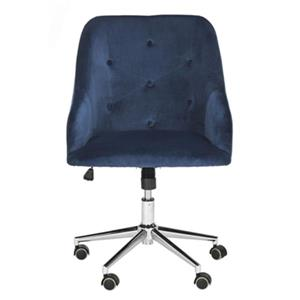 Evelynn Tufted Chrome Leg Swivel Office Chair