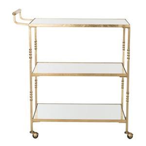 Safavieh 33.60-in 29.80-in Gold Lavinia Bar Cart