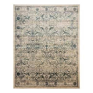 Evoke Beige and Blue Indoor Area Rug