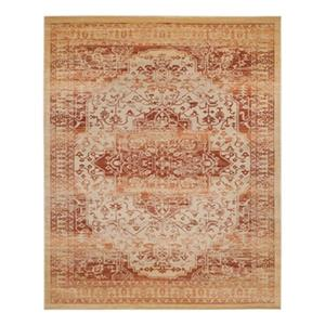 Evoke Rust and Creme Indoor Area Rug