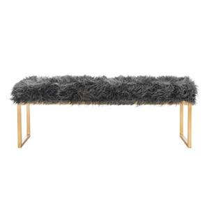 Safavieh FOX6280 Etta Faux Curly Sheepskin Bench,FOX6280A