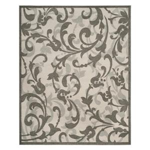 Safavieh Ivory and Tan Amherst Indoor/Outdoor Rug,AMT428K-8