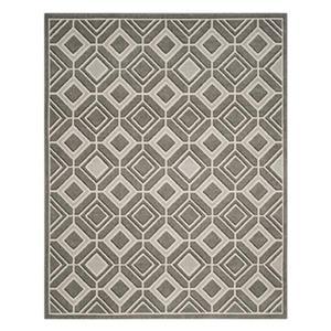 Safavieh Grey and Light Grey Amherst Geometric Indoor/Outdoo