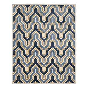 Safavieh Ivory and Blue Amherst Indoor/Outdoor Rug,AMT438T-8