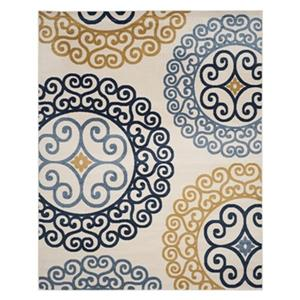 Safavieh Ivory and Gold Amherst Indoor/Outdoor Rug,AMT439T-8