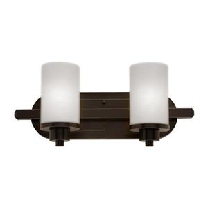 Artcraft Lighting Parkdale 12-in W 2-Light Oil rubbed bronze Arm Wall Sconce