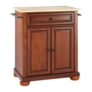 Crosley Furniture 18-in x 28-in Brown Craftsman Kitchen Island