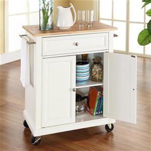Crosley Furniture 18-in x 36-in White Portable Kitchen Island