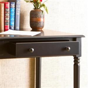 Boston Loft Furnishings 30-in x 42.5-in Satin Black Writing Desk