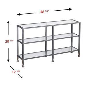 Boston Loft Furnishings Lea Clear Glass Modern Console Table