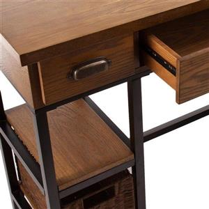 Boston Loft Furnishings Mira Brown 3-Drawer Computer Desk