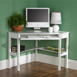 Boston Loft Furnishings Alcott White Corner Desk