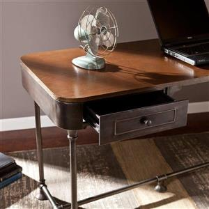 Boston Loft Furnishings Jordan Dark Tobacco 2-Drawer Writing Desk