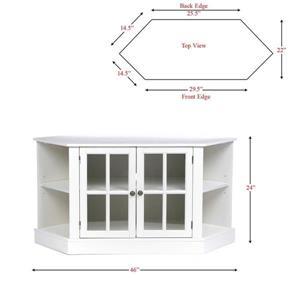 Boston Loft Furnishings Thomas White Corner TV Cabinet