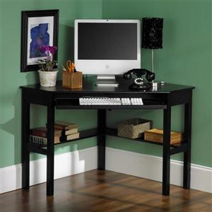 Boston Loft Furnishings Alcott Black Corner Writing Desk