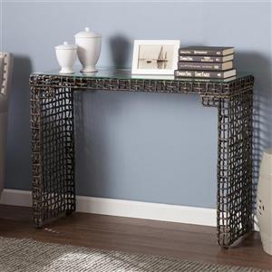Boston Loft Furnishings Lorri Clear Glass Coastal Sofa Table