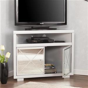 Boston Loft Furnishings Impression Mirrored Corner TV Stand