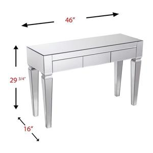 Boston Loft Furnishings Darvo Mirrored Modern Console Table