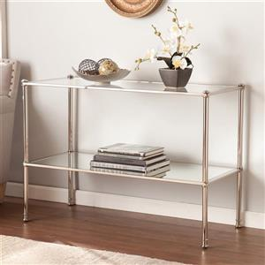 Boston Loft Furnishings Pawrow Clear Glass Glam Sofa Table