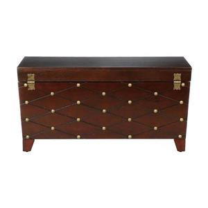 Boston Loft Furnishings Nailhead 34.25-in x 17-in x 11.5-in Espresso Finish Rectangular Pine Cocktail Table